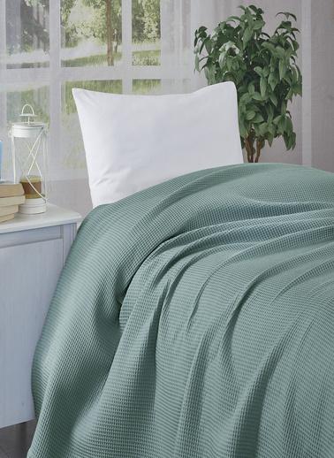 Komfort Home Tek Kişilik %100 Pamuk Petek Pike / Irmak Yeşili Yeşil